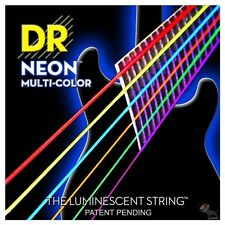 DR NMCB-40 HiDef Neon Multi-Color Coated Lite Bass Strings (40-100)