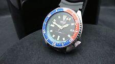 Vintage Seiko Divers Watch 7002 Auto Fecha Mod Dial Negro Bisel Pepsi J56.