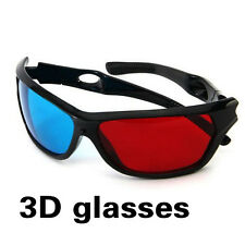 1 Pair Red Blue 3D Glasses For Dimensional Anaglyph Movie Game DVD 3D Movie Game