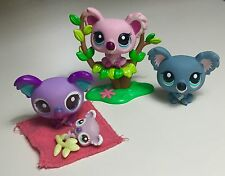 ✨Littlest Pet Shop✨ Koala Family of 4 Including Baby & Accessories ✨Adorable!!✨