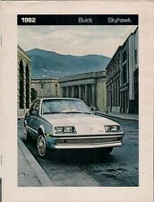 Buick Skyhawk 1982 USA Market Sales Brochure Custom Limited Coupe Sedan