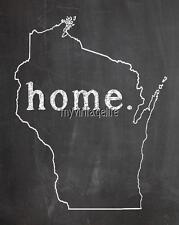 "WISCONSIN HOME STATE PRIDE 2"" x 3"" Fridge MAGNET CHALKBOARD CHALK COUNTRY"