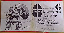 Grenadier Fantasy Warriors - 448 Orc with Spears & Shield x 20 Battleset(Sealed)