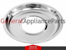 "Whirlpool Gas Stove Range Cooktop 8 3/4"" Chrome Drip Pan 4324056 4350988 109150"