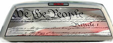 Flag We The People #01 Rear Window Vehicle Graphic Tint Truck Stickers  Decals