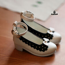 MSD 1/4 BJD Shoes Supper Dollfie DREAM Lolita bow white Shoes DOD MID AOD SOOM