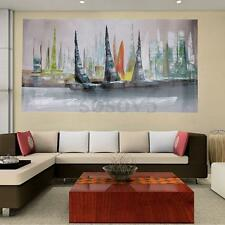 Abstract Large Home Wall Decor Modern Boat Painting On Art Canvas (No Framed)
