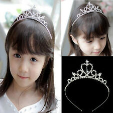 Girls Rhinestone Crystal Tiara Hair Band Kid Bridal Princess Prom Crown Headband