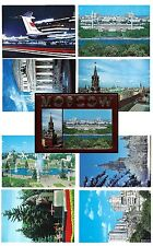 Moscow. Aeroflot. Set of 8 postcards. Russia (BI#82)