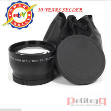 58mm 2x 2.0x TelePhoto Converter lens for CANON 400D 450D 500D 1000D 550D Gopro3
