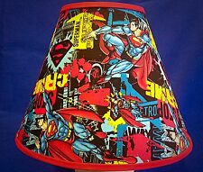 Superman on Red  Lampshade Handmade Lamp Shade