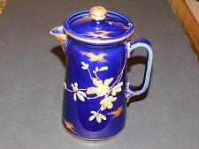 THOMAS FORESTER COBALT BLUE COFFEE / CHOCOLATE POT RICHLY GILDED BLOSSOM