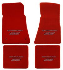 NEW! RED FLOOR MATS 2010-2015 Camaro Embroidered Logo and SS in Red on all 4