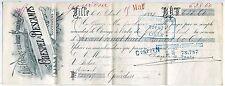 TRAITE 1892 CRESPEL ET DESCAMPS LILLE MAISON DELESPAUL  CACHET  FISCAL