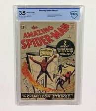 Amazing Spider-Man #1 CBCS 3.5 KEY Beauty!!! (OW/W Pages) Like CGC, 1963 Marvel