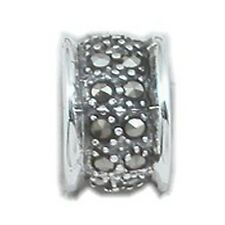 Amazing Marcasite Slider Pendant Sterling Silver 925 Fashion Fine Jewelry Gift