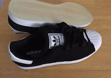 Adidas Superstars Black and White with clear Bottoms Size 10 1/2 mens ShellToes
