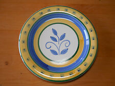 Tabletops Unlimited BARCELONA Yellow Blue Set of 3 Dinner Plates 10 1/2