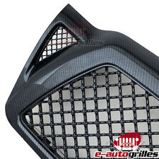 ABS Black Carbon Fiber Look Mesh Grille Grill W/Shell For 05-11 Toyota Tacoma