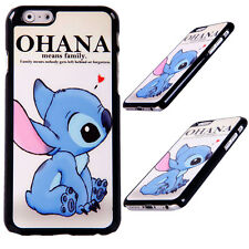 Disney Characters Lilo And Stitch Ohana Quote Case Cover For Apple iPhone 6 6s
