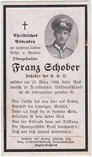 Sterbebild - Death Card WW2 - Frankenstein Sandweiler Luxemburg Endkampf 1945