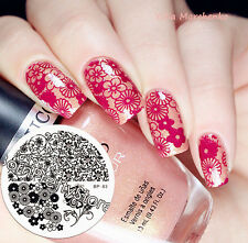 Flower Water Marbles Nail Art Stamp Template Image Plate BORN PRETTY BP83