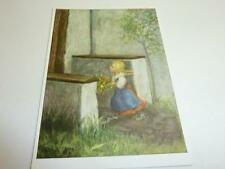 """vintage blank 70` greeting cards  Spötl""""the most beautiful flower that was""""136"""""""