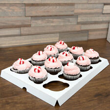Pack of 50 White 12-Cupcake Insert - Use with 14x10 Cake / Bakery Box