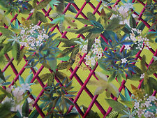 "Designers Guild Fabric ""Canopy"" Lime 3.5 METRES 100% Cotton ~ Tropical Trellis"