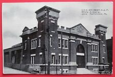 State Armory, Pottstown, PA Unposted DB Postcard