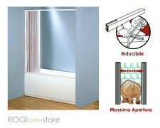 Cabina BOX VASCA PVC in Kit riducibile a un lato apertura LATERALE a soffietto