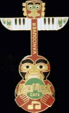 Hard Rock Cafe VANCOUVER 1996 Totem Pole Guitar PIN 2LC - HRC Catalog #12978
