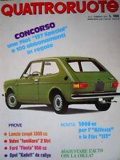 Quattroruote 254 1977 2000cc per Alfetta e la Fiat 132. Lancia Coupé 1300 [Q93]