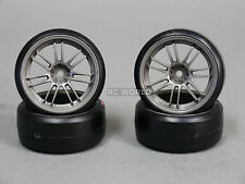 RC 1/10 MST OEM CAR DRIFT Tires Wheels Rims Gun Metal Color (4pcs)