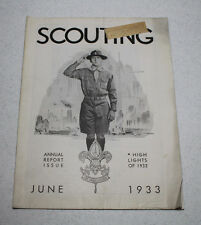 Scouting Magazine 1933 June Issue Annual Report Issue Cover