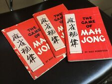 The Game of Mahjong by Max Robertson VGUC, FREE POSTAGE