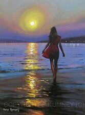 PETE RUMNEY FINE ART BUY ORIGINAL ACRYLIC SIGNED PAINTING SUNSET PARADISE