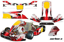 AMR Racing Graphics Tony Kart Venox Sticker Wrap Kits Decals CARBON X RED