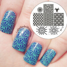 BORN PRETTY Nail Art Stamping Plate Geometrical Lines Image Plate Template #12