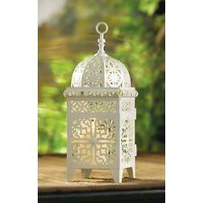 Lot of 10 White Wedding Moroccan Garden Centerpieces Candle Holder Lanterns NEW