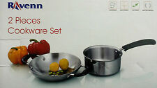 Induction Compatible Cookware Set of Stainless steel - 2 pieces
