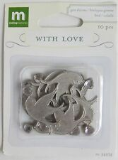 Making Memories With Love Gem Charms Wedding Reception BIRD DOVE 110 pieces NEW