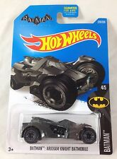 Hot Wheels Batman Arkham Knight Batmobile 4/5 Silverish Black 2016 C Case Gotham