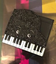 Kate Spade NY Black White Leather Jazz Things Up Piano Card Case PWRU5151 NWT