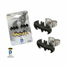 316L Surgical Steel, Batman, Stud, Post Earrings Sold as a pair DC Comics