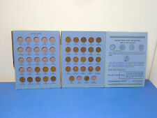 Whitman 9003,1856-1909 Indian Head Cent Partial Coin Folder,30 coins,See below