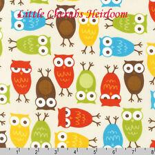 "Ann Kelle ""Urban Zoologie"" Owls Bermuda Fabric"