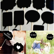 10 Pcs DIY Photo Booth Prop Wedding Birthday Party Black Card Chalkboard Decor