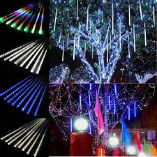 RGB Meteor Shower Falling Rain Drop Snow Icicle Xmas Party Tree Lights String
