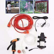 Portable 80W 130PSI 12V High Pressure Car Electric Washer Wash Pump Clean Set